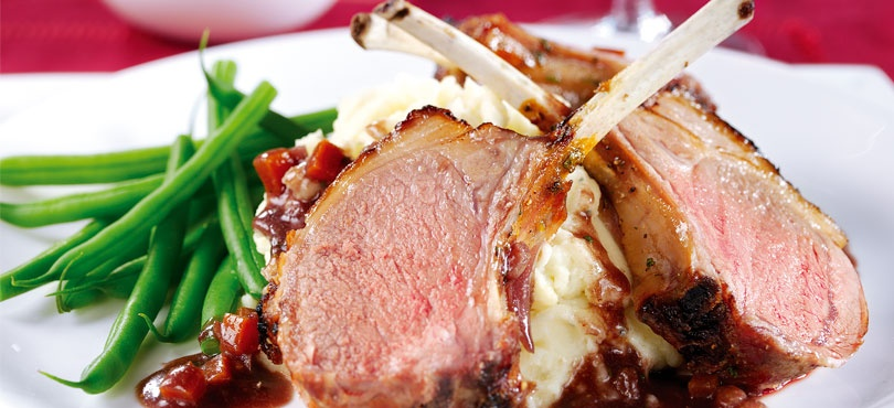 Honey-Glazed Rack of Lamb