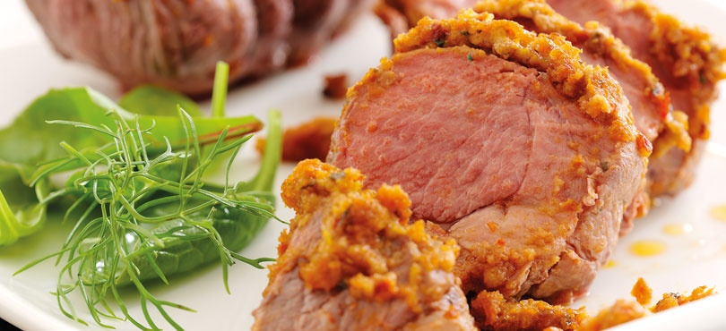 Roast Mini Lamb Joints with Red Pesto