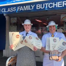 Owen Taylor Success at National Awards with local Sausage