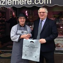 Mr Graham Hall of Halls of Hazlemere celebrates 50 years of service