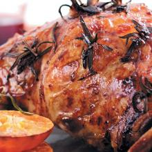 Roast Lamb with Orange and Rosemary